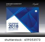blue cover desk calendar 2018...
