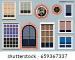 set of house windows vector ... | Shutterstock .eps vector #659367337
