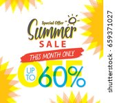 summer sale set v.4 60 percent...   Shutterstock .eps vector #659371027