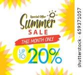 summer sale set v.4 20 percent...   Shutterstock .eps vector #659371057