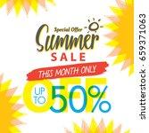 summer sale set v.4 50 percent...   Shutterstock .eps vector #659371063