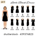 little black dress. set of... | Shutterstock .eps vector #659376823