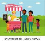 family leisure. african family... | Shutterstock .eps vector #659378923