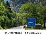 andorra sign on border crossing ...   Shutterstock . vector #659381293