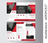 red triangle business trifold... | Shutterstock .eps vector #659391517