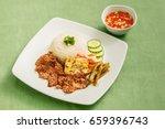 "vietnamese food "" com tam | Shutterstock . vector #659396743"