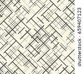 seamless chaotic line wallpaper.... | Shutterstock .eps vector #659407123