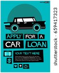 apply for a car loan poster in... | Shutterstock .eps vector #659417323