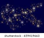 cosmic space vector background...   Shutterstock .eps vector #659419663