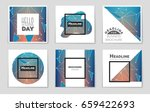 abstract vector layout... | Shutterstock .eps vector #659422693