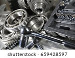 spanners and wrenches with ball ... | Shutterstock . vector #659428597