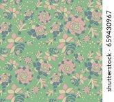 vector spring flower seamless... | Shutterstock .eps vector #659430967