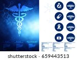 2d illustration health care and ... | Shutterstock . vector #659443513
