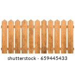 Brown Wooden Fence Isolated On...