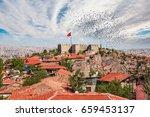 ankara castle  ankara capital... | Shutterstock . vector #659453137