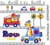animals rescue team in the city ... | Shutterstock .eps vector #659456947