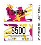vector gift card concept.... | Shutterstock .eps vector #659458513
