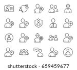 users line icons. profile ... | Shutterstock .eps vector #659459677