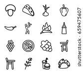 eating icons set. set of 16... | Shutterstock .eps vector #659475607