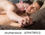 two sexy guys. love and... | Shutterstock . vector #659478913