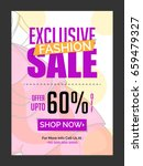 exclusive fashion sale with... | Shutterstock .eps vector #659479327