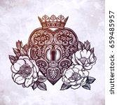 ornate mystic key hole inside... | Shutterstock .eps vector #659485957