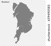 high quality map of mumbai is a ... | Shutterstock .eps vector #659490583