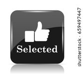 selected icon. internet button... | Shutterstock . vector #659497447