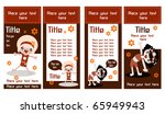 two sided rack cards or web... | Shutterstock .eps vector #65949943