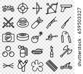 weapon icons set. set of 25... | Shutterstock .eps vector #659503327