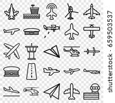 aviation icons set. set of 25... | Shutterstock .eps vector #659503537