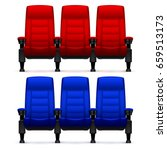 cinema empty comfortable chairs.... | Shutterstock .eps vector #659513173