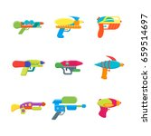 cartoon toy water guns color... | Shutterstock .eps vector #659514697