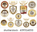 luxury sale golden labels... | Shutterstock .eps vector #659516053
