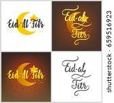 set of eid al fitr lettering.... | Shutterstock .eps vector #659516923