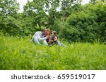 family time in nature  having... | Shutterstock . vector #659519017