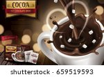 hot chocolate drink ad  with... | Shutterstock .eps vector #659519593