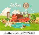 eco farm poster vector... | Shutterstock .eps vector #659522473