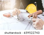 construction concept   hands of ... | Shutterstock . vector #659522743