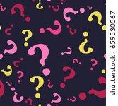 question mark seamless pattern .... | Shutterstock .eps vector #659530567