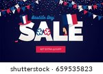 bastille day sale vector... | Shutterstock .eps vector #659535823