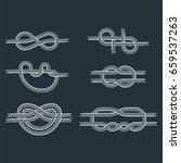 sea boat rope knots vector... | Shutterstock .eps vector #659537263