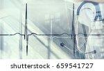 modern medicine cardiology...   Shutterstock . vector #659541727