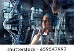 innovative technologies in... | Shutterstock . vector #659547997