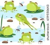 Vector Cartoon Style Frog...