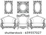 rich imperial baroque rococo...   Shutterstock .eps vector #659557027
