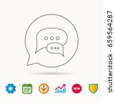 chat icon. comment message sign.... | Shutterstock .eps vector #659564287