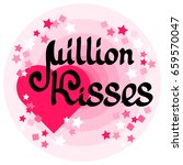million kisses card with... | Shutterstock .eps vector #659570047