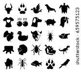 animal icons set. set of 25... | Shutterstock .eps vector #659575123