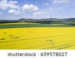 aerial view of oil seed rape... | Shutterstock . vector #659578027